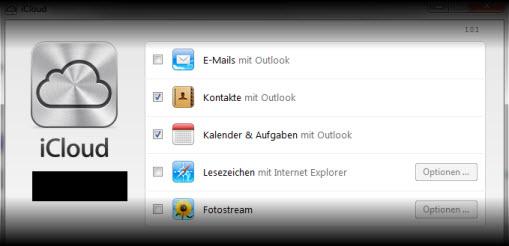 Outlook kennt iCloud Daten nicht mehr (2/2)