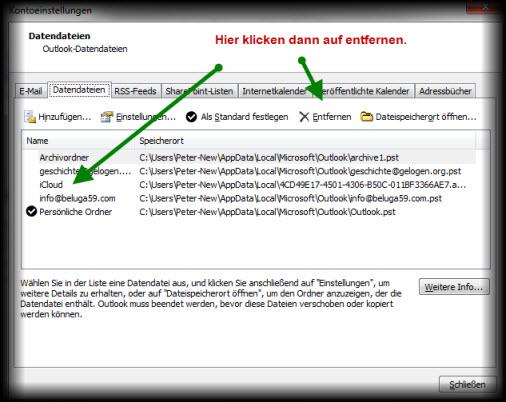 Outlook kennt iCloud Daten nicht mehr (1/2)