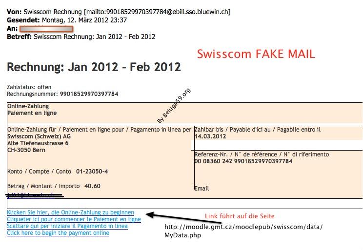 swisscom online rechnung fake achtung belugas abzocker blog. Black Bedroom Furniture Sets. Home Design Ideas