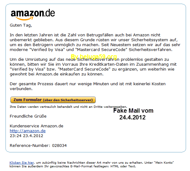 amazon fake mail will ihre daten belugas abzocker blog. Black Bedroom Furniture Sets. Home Design Ideas