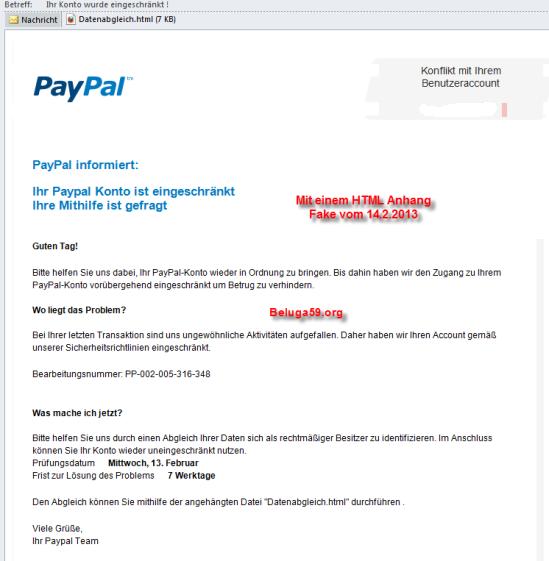 PayPal Fake 2013