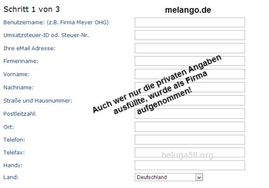 Melango_Anmeldung