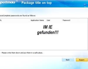 Passwortretterx2_IE_Resultate