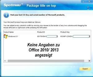 Passwortretterx2_Office_Resultate